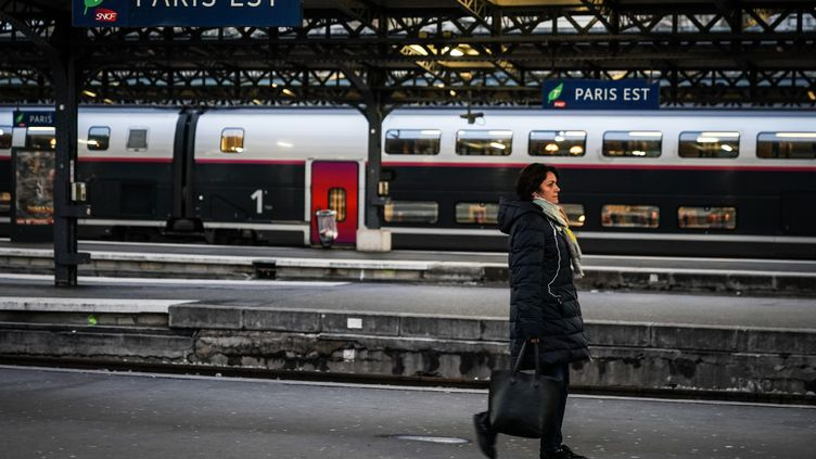 Une vue de la gare de l'Est à Paris, le 13 décembre 2019. (MARTIN BUREAU / AFP)