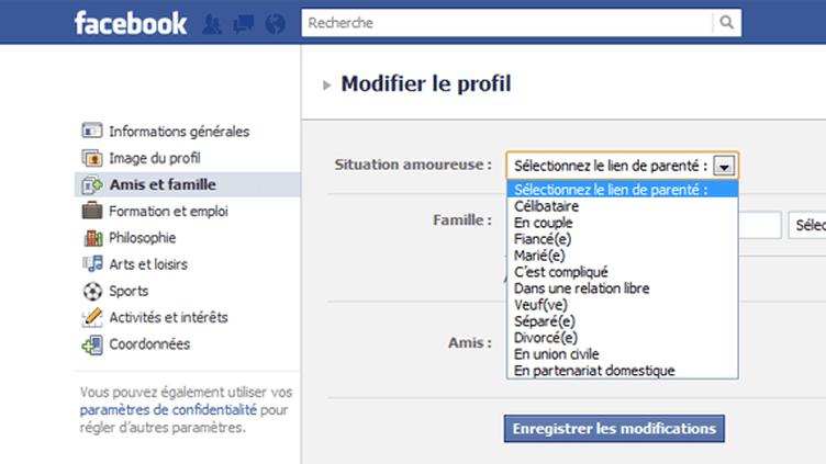Un profil Facebook. (FTVi)