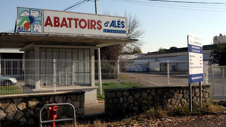 L'abattoir d'Alès (Gard), le 14 octobre 2015. (MAXPPP)