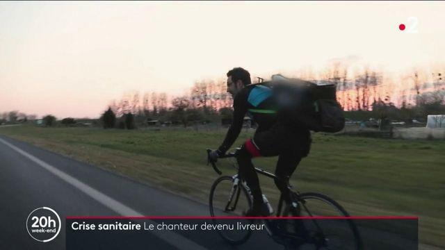 Crise sanitaire : Sébastien Soules, de chanteur d'opéra à livreur à vélo