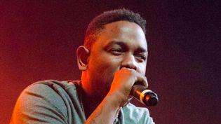 Kendrick Lamar sur scène le 16 janvier 2013 à Glasgow.  (Joseph Elliott / Rex Fe/REX/SIPA)