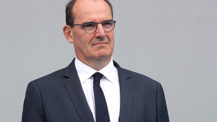 Le Premier ministre Jean Castex lors du défilé du 14-Juillet, à Paris, le 14 juillet 2020. (LUDOVIC MARIN / AFP)