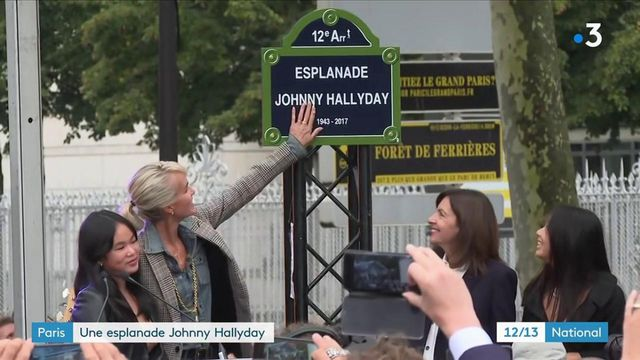 une esplanade renommée en hommage à Johnny Hallyday