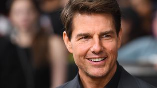 """Tom Cruise lors rencontre avec les fans du film """"La Momie"""", à New York (Etats-Unis), le 6 juin 2017. (ANGELA WEISS / AFP)"""