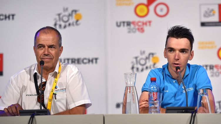 Vincent Lavenu et son leader Romain Bardet (DE WAELE TIM / TDWSPORT SARL)
