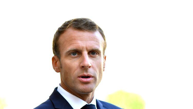 Le président de la République Emmanuel Macron, le 17 septembre 2018, à l'Elysée, à Paris. (MUSTAFA YALCIN / ANADOLU AGENCY)