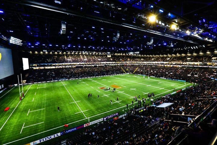 Vue de la U Arena depuis la tribune officielle (OLIVIER CORSAN / MAXPPP)