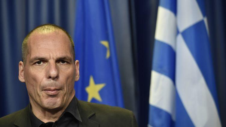 L'ancien ministre des Finances grec Yanis Varoufakis, le 27 juin 2015 à Bruxelles (Belgique). (JOHN THYS / AFP)