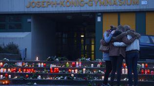Le lycée de Haltern Am See en Allemagne d'où venaient16 lycéens allemands, de retour d'une semaine passée près de Barcelone (SASCHA SCHUERMANN / AFP)