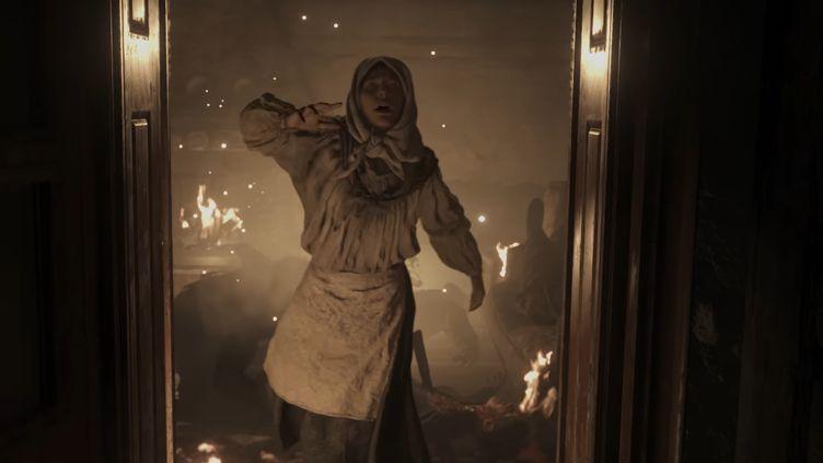 Resident Evil Village, présenté sur YouTube le 17 avril 2021 par son éditeur. (FRANCEINFO / RADIOFRANCE)