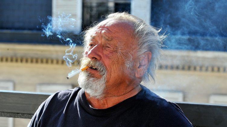L'écrivain américainJim Harrison à Paris en 2010.  (Pierre Le Masson/PHOTOPQR/VOIX DU NORD)