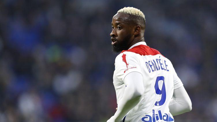 L'attaquant lyonnais Moussa Dembélé  (ALEX MARTIN / AFP)