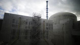 Le chantier de l'EPR à Flamnaville (Manche). (CHARLY TRIBALLEAU / AFP)
