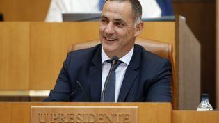 Gilles Siméoni, le président du Conseil exécutif de Corse, en juin 2018. (PASCAL POCHARD-CASABIANCA / AFP)