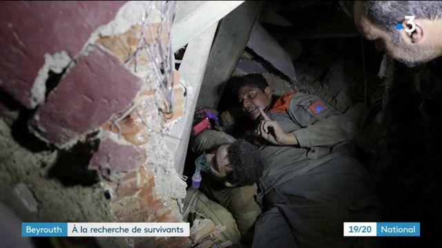 Beyrouth - à la recherche des survivants