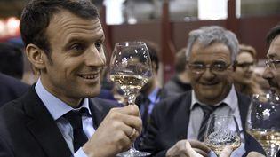 Le président de la République, Emmanuel Macron, le 3 mars 2016 à Paris. (DOMINIQUE FAGET / AFP)