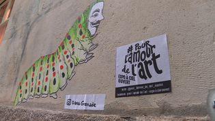 Une oeuvre de street-art dans les rues de Nantes. (FRANCEINFO)