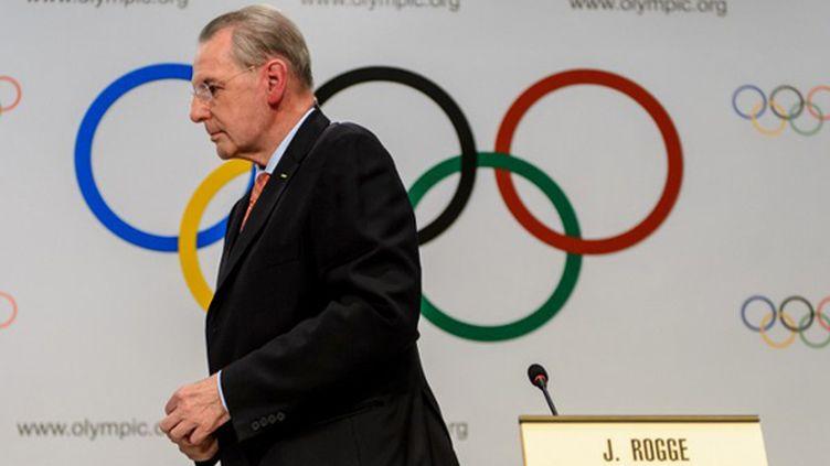 Jacques Rogge ne sera plus le président du CIO après l'élection de mardi. (FABRICE COFFRINI / AFP)
