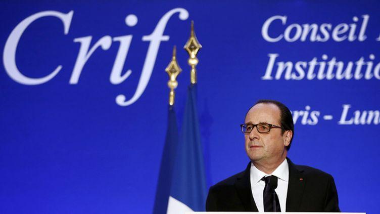 (François Hollande au 30e dîner du Crif © Reuters)