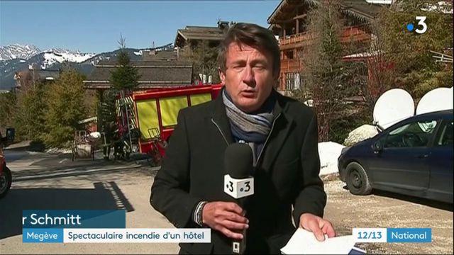 Megève : spectaculaire incendie dans un hôtel