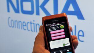 Un téléphone Nokia, en 2010. (MARKKU ULANDER / AFP)