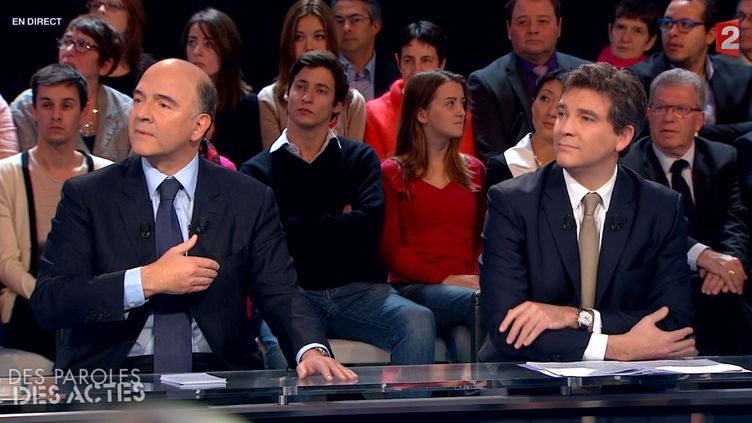 Le ministre de l'Economie et des Finances, Pierre Moscovici, le 28 novembre 2013. (FRANCE 2)