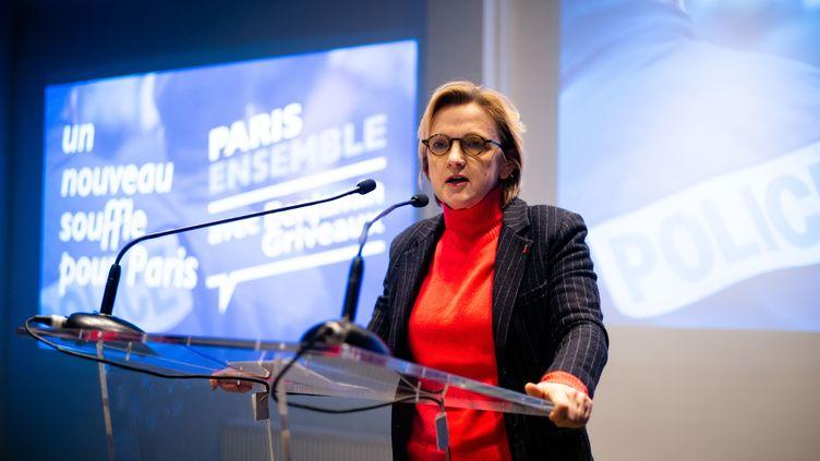 Florence Berthout, à Paris, le 23 janvier 2020. (EDOUARD RICHARD / HANS LUCAS)