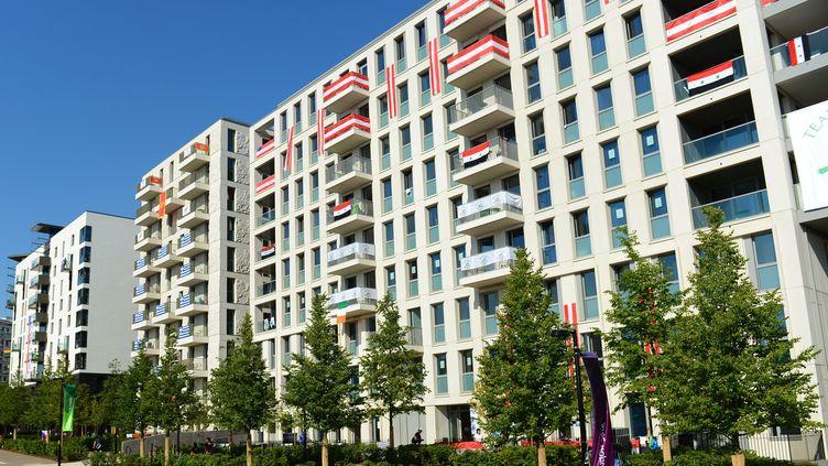 Le village des athlètes de Londres (Royaume-Uni) doit être transformé en 2 800 appartements. (CHAMUSSY / NIVIERE / SIPA)