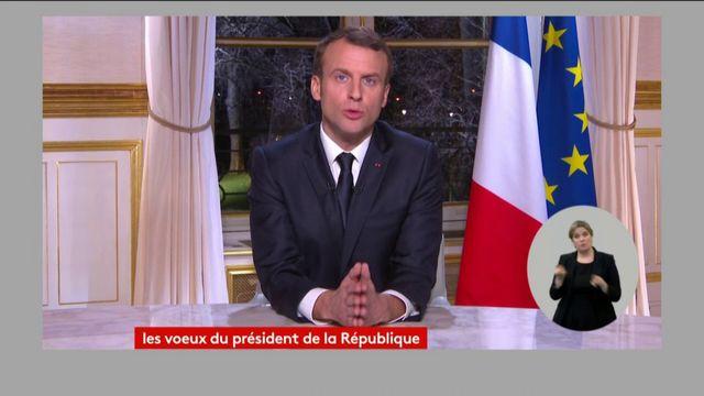 """""""Je continuerai à faire ce à quoi vous m'avez élu"""", dit Emmanuel Macron"""