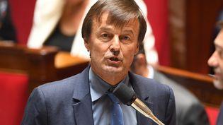 Nicolas Hulot, ministre de la Transition écologique et solidaire, à l'Assemblée nationale, à Paris, le 3 juillet 2018. (ERIC FEFERBERG / AFP)