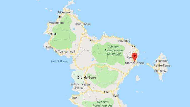 L'enfant est mort dans la ville de Mamoudzou, le 22 janvier 2019. (GOOGLE MAPS)