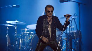 Le chanteur Johnny Halliday le 14 juillet 2015 à La Rochelle (Charente-Maritime). (XAVIER LEOTY / AFP)