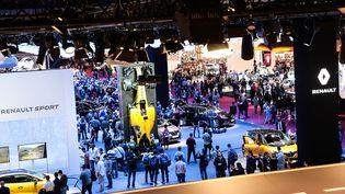 Le stand Renault dans le cadre du Mondial en 2016. (CYRIL BITTON AMC POUR FRANCE INFO)