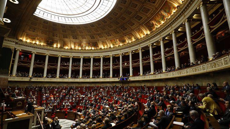 L'Assemblée nationale lors d'un discours de Bernard Cazeneuve, le 13 décembre 2016, à Paris. (PATRICK KOVARIK / AFP)