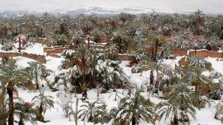 De la neige dans le désert marocain (FRANCEINFO)