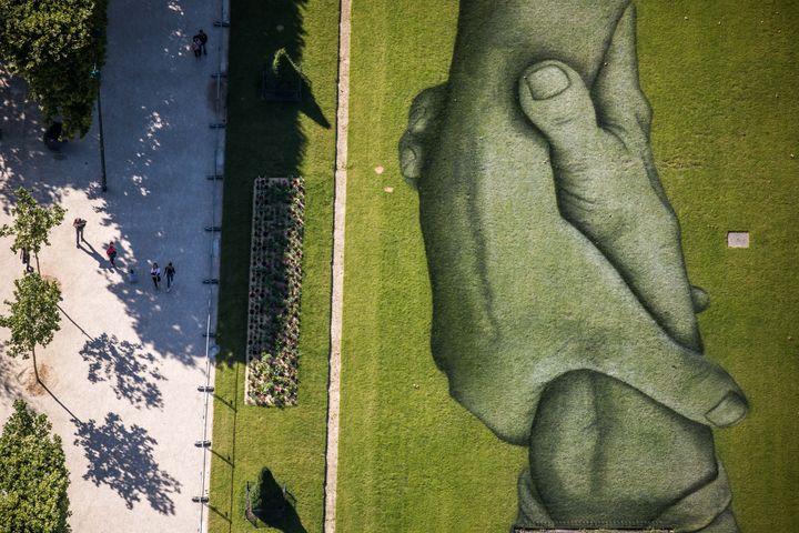 Beyon Walls vue du ciel (détail). (CHRISTOPHE PETIT TESSON / EPA)