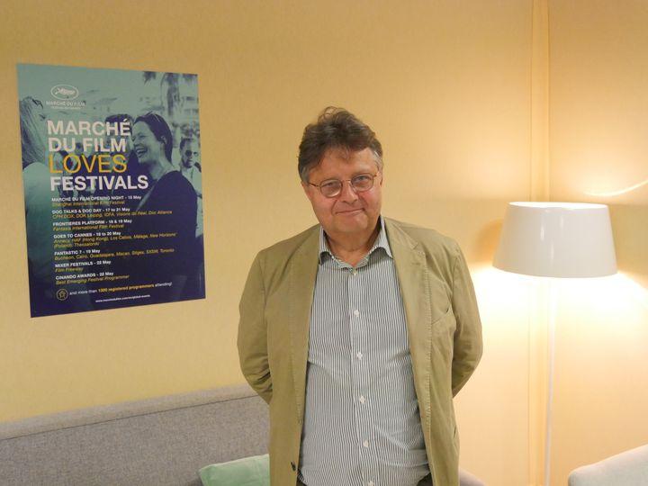 Jérôme Paillard, directeur du Marché du film du Festival de Cannes, le 14 mai 2019. (Lorenzo Ciavarini Azzi, Franceinfo Culture)