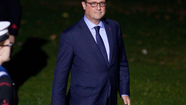 Le présidentde la République François Hollande lors du sommet de l'Otan à Cardiff (Royaume-Uni) le 4 septembre 2014. (BEN GURR / POOL / AFP)