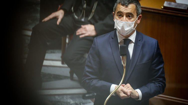 Le ministre de l'Intérieur Gérald Darmanin à l'Assemblée nationale, le 13 octobre 2020. (MAXPPP)