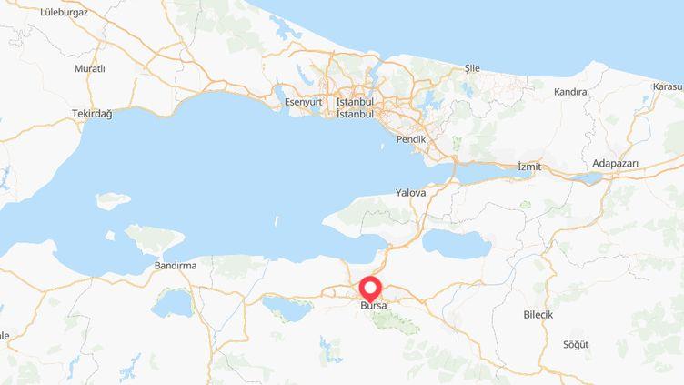 Les deux Françaises ont été arrêtées après des coups de filet antiterroristes dans la province de Bursa, située dans le nord-ouest de la Turquie, le 2 janvier 2019. (GOOGLEMAPS)