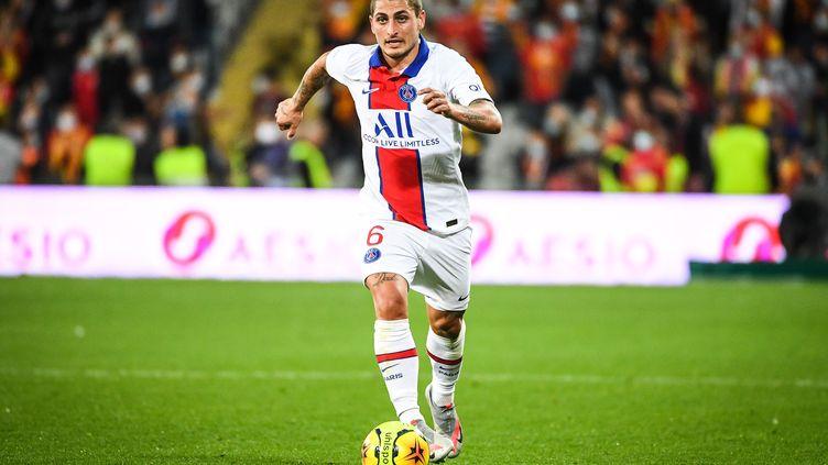 Marco Verratti lors de la défaite parisienne à Lens, jeudi dernier (1-0). (MATTHIEU MIRVILLE / MATTHIEU MIRVILLE)