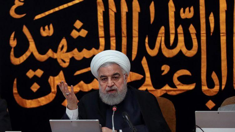 Hassan Rohani lors de son intervention télévisée, le 4 septembre 2019. (REUTERS)
