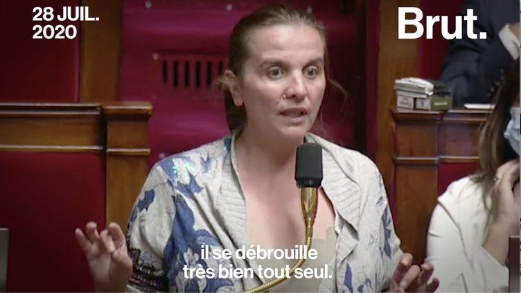 """VIDEO. Filiation : """"Son papa s'est barré, mon fils s'en sort très bien"""" : le discours fort de la députée Caroline Fiat (BRUT)"""