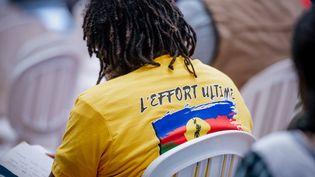 Ouverture du 39e congrès du FLNKS à Nouméa, le 12 décembre. (DELPHINE MAYEUR / AFP)