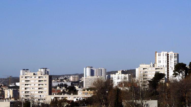 La cité des Micocouliers, dans le 14e arrondissement de Marseille, où habitaient les trois jeunes retrouvés carbonisés le 25 décembre 2011. (BORIS HORVAT / AFP)