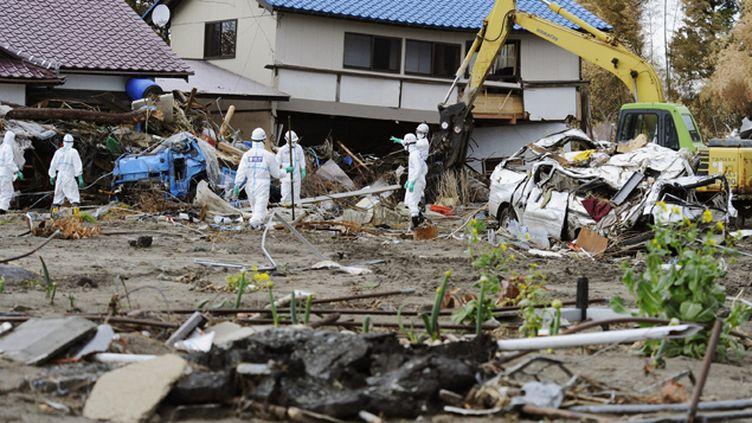(A Futaba, ici en mars 2011, près de Fukushima, des patients avaient été évacués en urgence © MaxPPP)