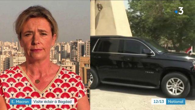Emmanuel Macron rencontre les autorités Irakiennes