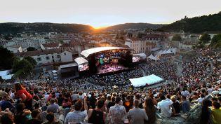 Le théâtre antique de Vienne pendant une précédente édition du Festival de Jazz  (PHILIPPE MERLE / AFP)