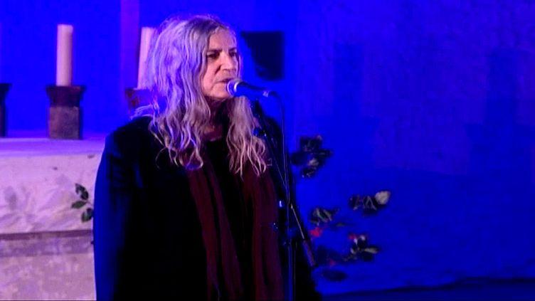 Patti Smith en concert dans la chapelle de Ronchamp  (France 3 / Culturebox)
