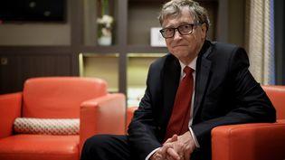 Bill Gates en marge d'une conférence de financement, le 9 octobre 2019 à Lyon. (JEFF PACHOUD / AFP)